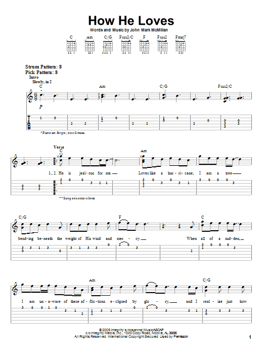 How He Loves by David Crowder Band - Easy Guitar Tab - Guitar Instructor
