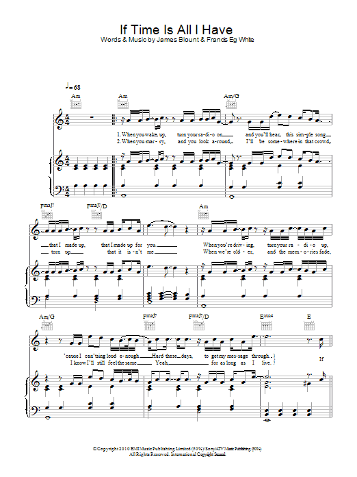 If Time Is All I Have Sheet Music
