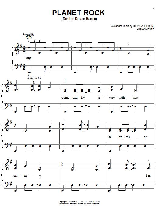 Partition piano Planet Rock de John Jacobson - Piano Facile