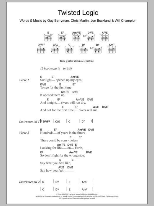 Twisted Logic Sheet Music