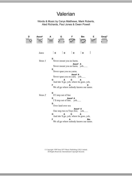 Valerian Sheet Music