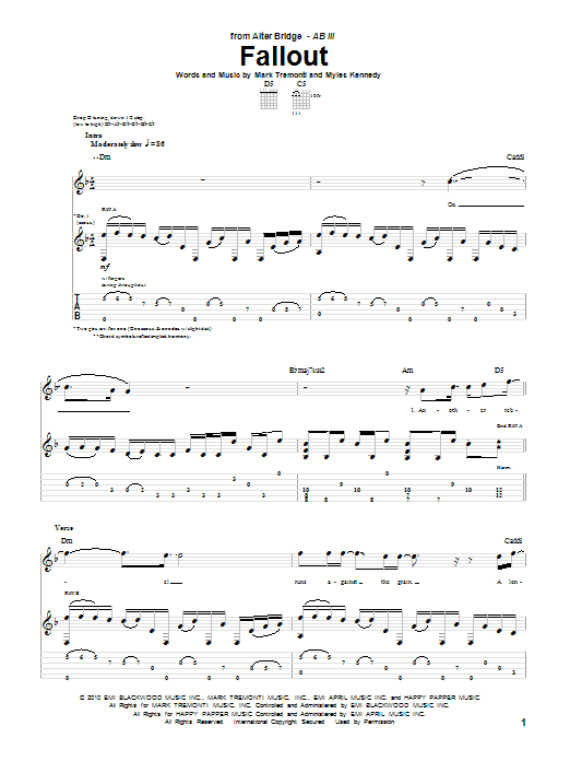 Fallout Sheet Music