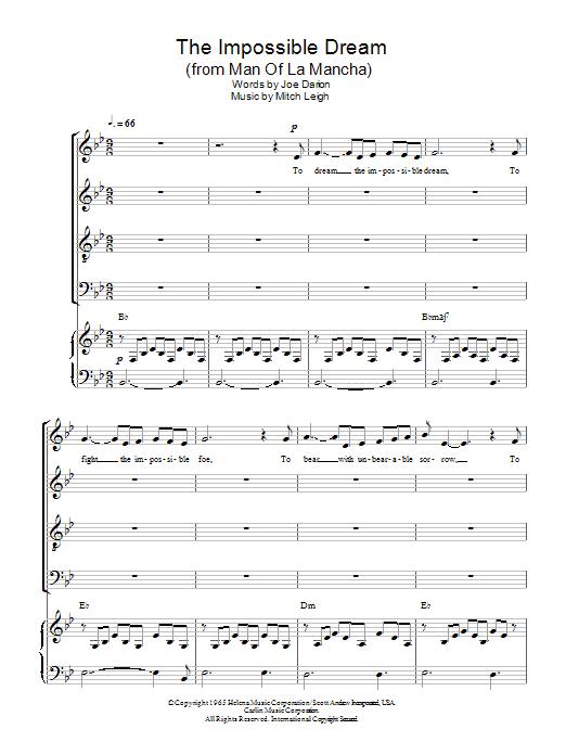 The Impossible Dream (SATB Choir)
