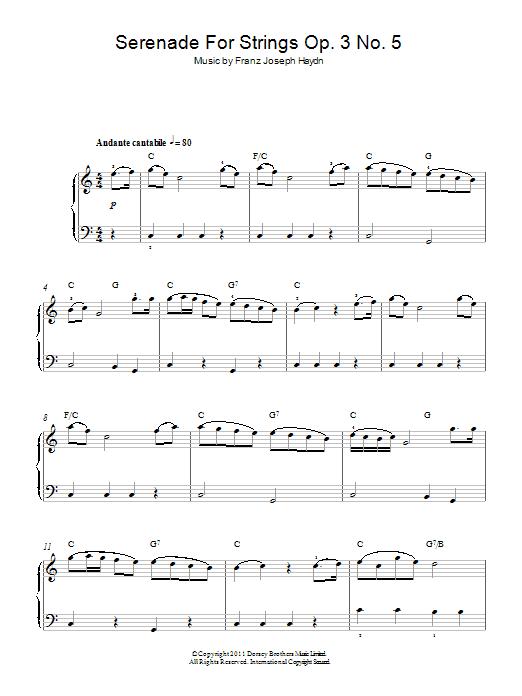 Serenade For Strings Op. 3 No. 5 Sheet Music