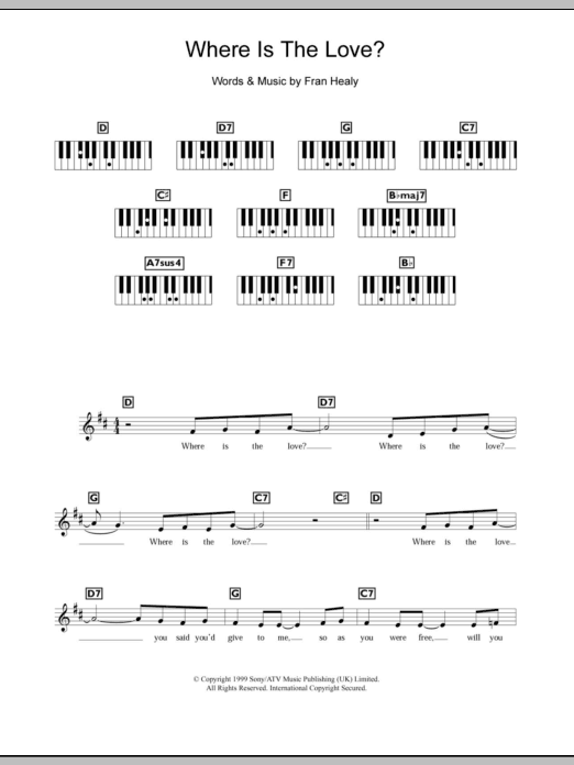 Perfect This Love Chords Piano Crest - Song Chords Images - apa ...