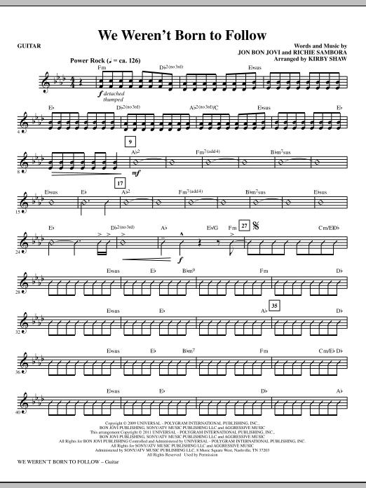 We Weren't Born To Follow - Guitar (Choir Instrumental Pak)