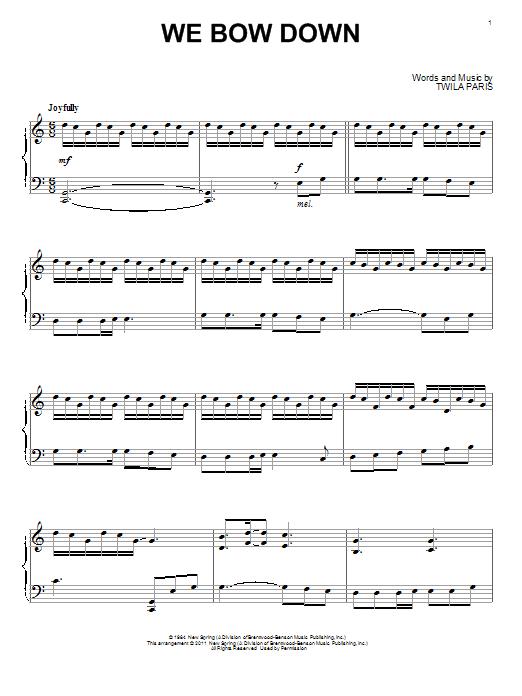 We Bow Down (Piano Solo)