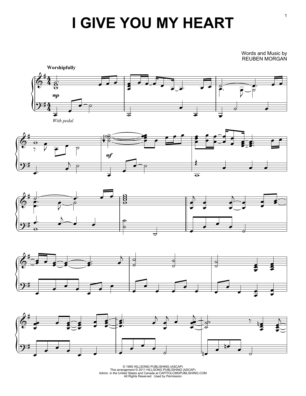 I Give You My Heart (Piano Solo)