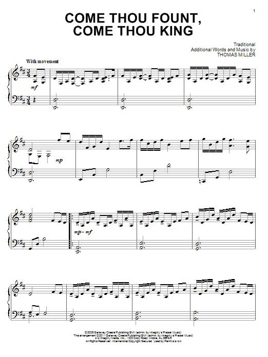 Come Thou Fount, Come Thou King (Piano Solo)
