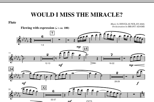 Would I Miss The Miracle? - Flute Sheet Music