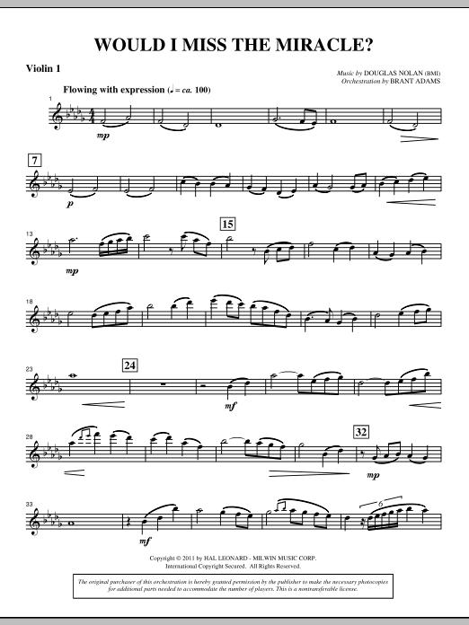 Would I Miss The Miracle? - Violin 1 Sheet Music