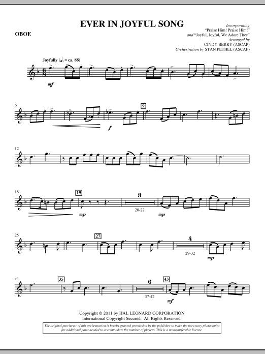 Ever In Joyful Song - Oboe (Choir Instrumental Pak)