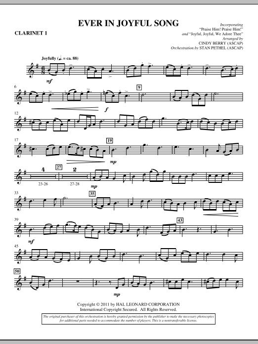 Ever In Joyful Song - Bb Clarinet 1 (Choir Instrumental Pak)