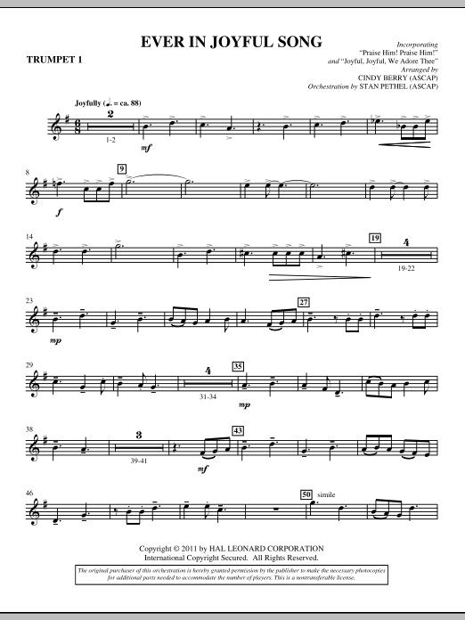 Ever In Joyful Song - Bb Trumpet 1 (Choir Instrumental Pak)