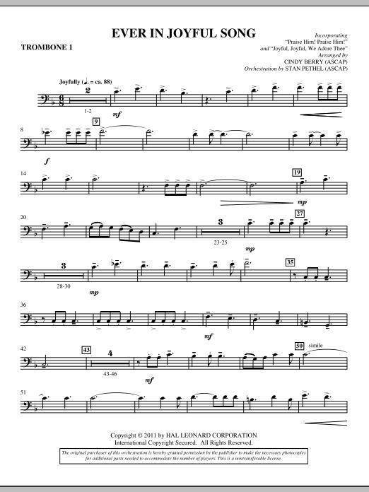 Ever In Joyful Song - Trombone 1 (Choir Instrumental Pak)