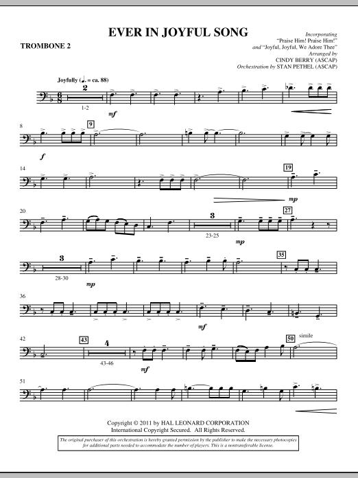 Ever In Joyful Song - Trombone 2 (Choir Instrumental Pak)