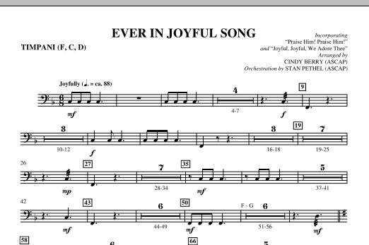 Ever In Joyful Song - Timpani Sheet Music