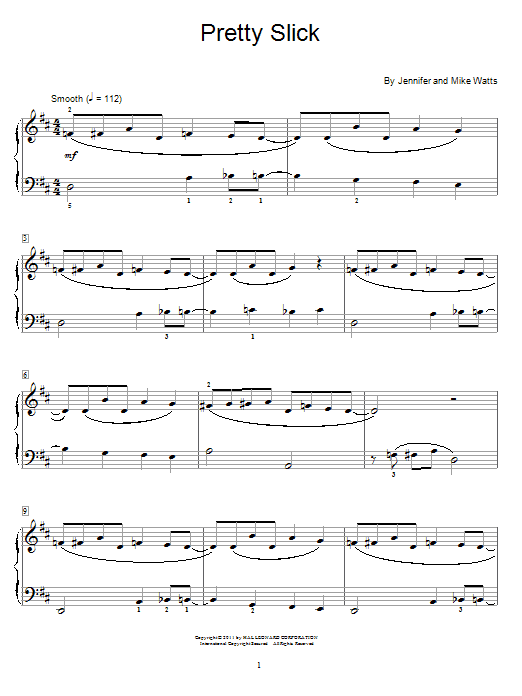 Pretty Slick Sheet Music