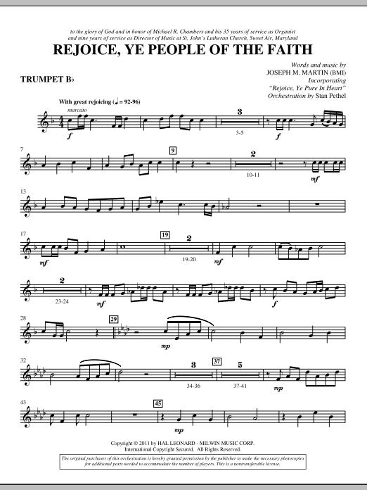 Rejoice, Ye People Of The Faith - Bb Trumpet (Choir Instrumental Pak)