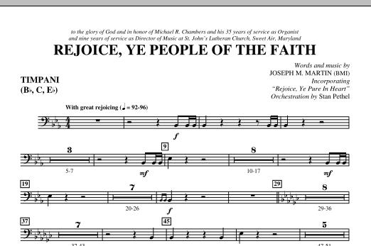 Rejoice, Ye People Of The Faith - Timpani (Choir Instrumental Pak)