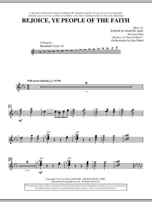 Rejoice, Ye People Of The Faith - Handbells (Choir Instrumental Pak)