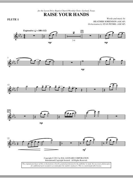 Raise Your Hands - Flute 1 (Choir Instrumental Pak)
