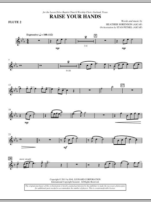 Raise Your Hands - Flute 2 (Choir Instrumental Pak)
