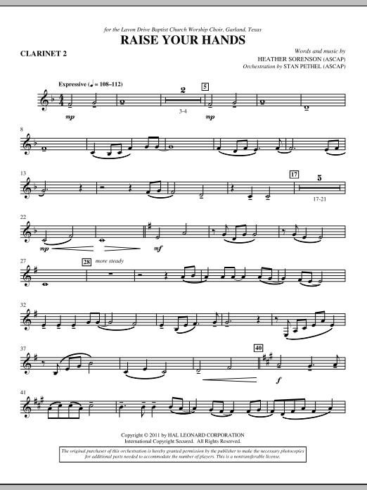 Raise Your Hands - Bb Clarinet 2 (Choir Instrumental Pak)