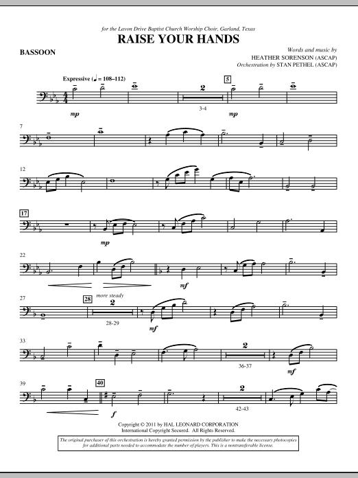 Raise Your Hands - Bassoon (Choir Instrumental Pak)