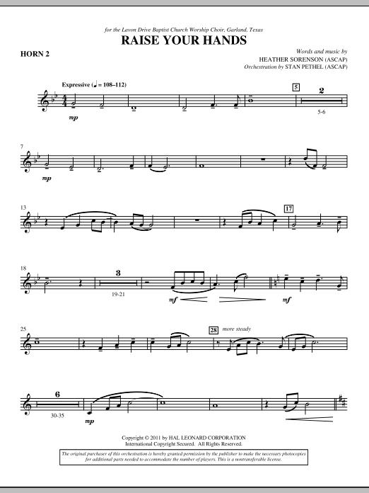 Raise Your Hands - F Horn 2 (Choir Instrumental Pak)