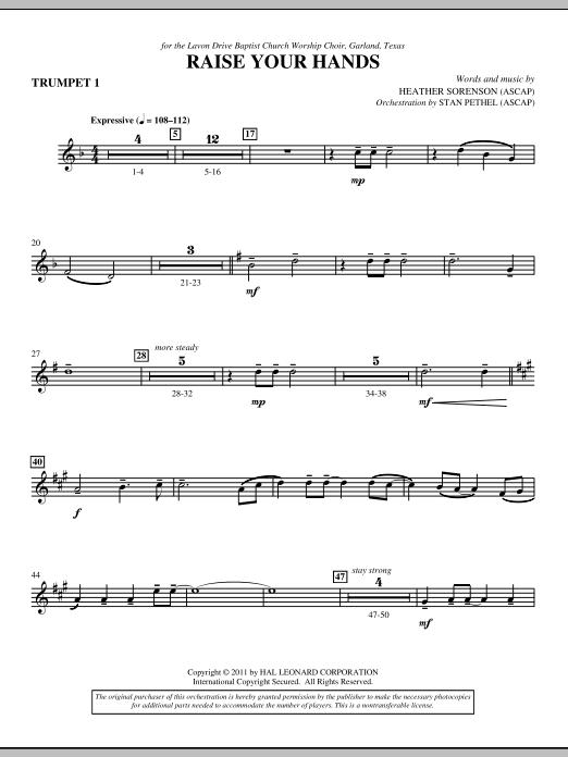 Raise Your Hands - Bb Trumpet 1 (Choir Instrumental Pak)