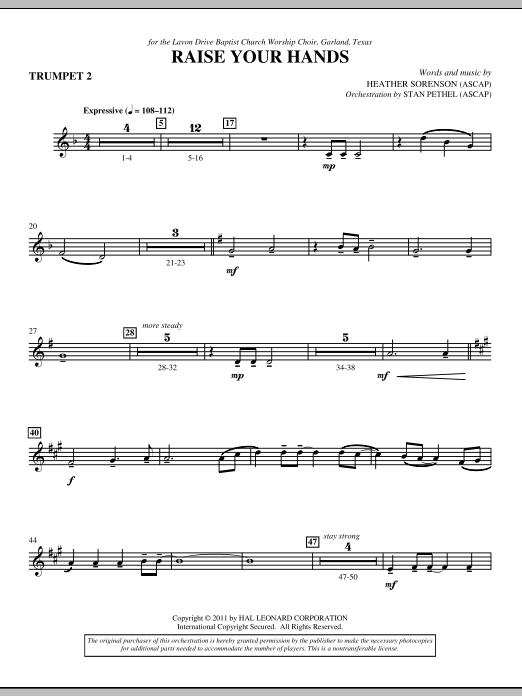 Raise Your Hands - Bb Trumpet 2 (Choir Instrumental Pak)