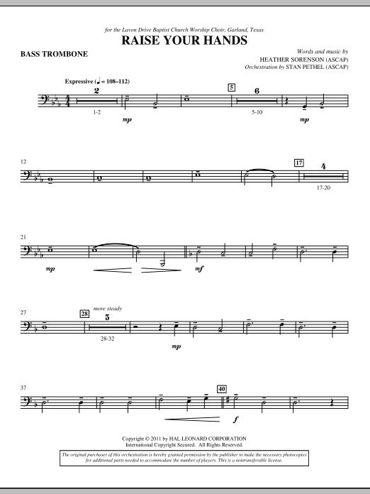 Raise Your Hands - Bass Trombone (Choir Instrumental Pak)