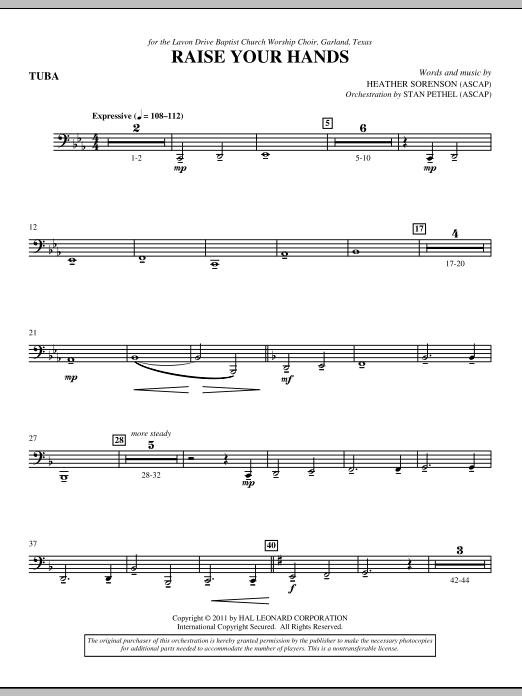Raise Your Hands - Tuba (Choir Instrumental Pak)