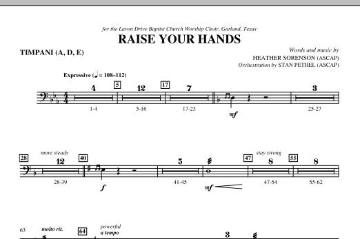 Raise Your Hands - Timpani (Choir Instrumental Pak)