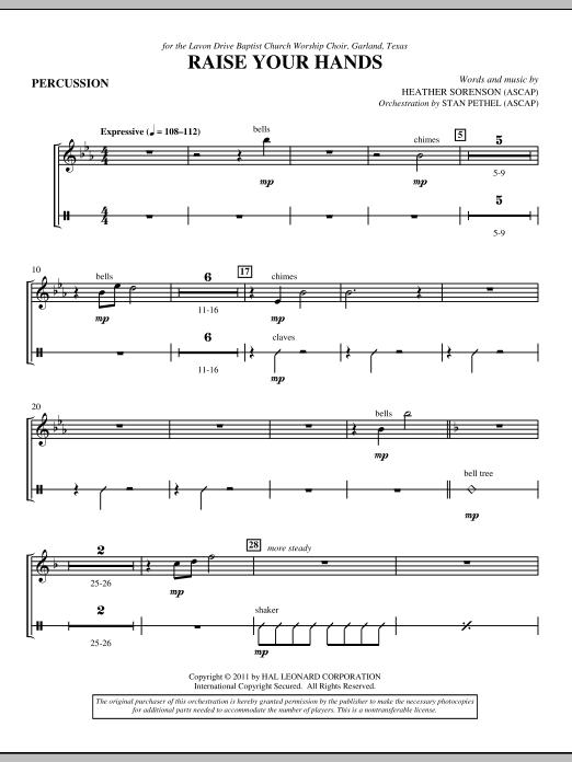 Raise Your Hands - Percussion 1 & 2 (Choir Instrumental Pak)