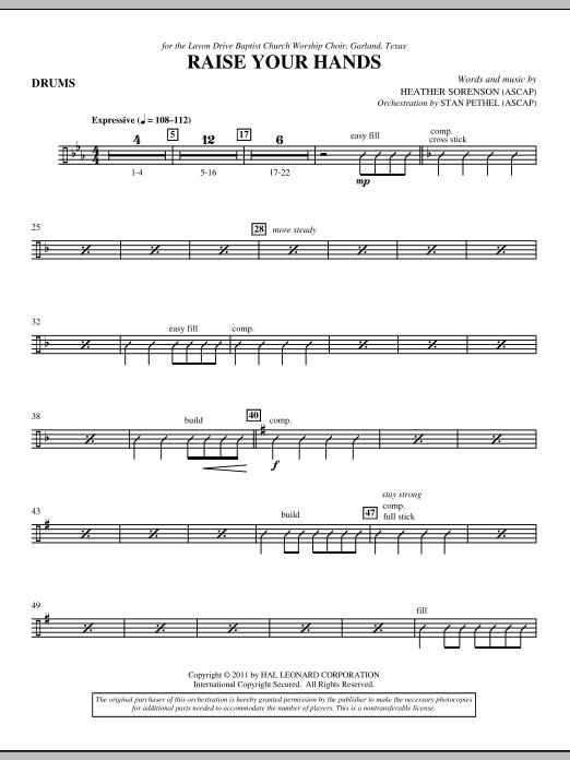 Raise Your Hands - Drum Set (Choir Instrumental Pak)