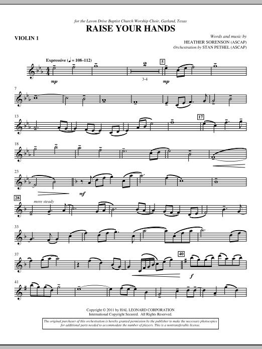 Raise Your Hands - Violin 1 (Choir Instrumental Pak)