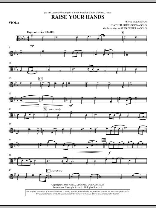 Raise Your Hands - Viola (Choir Instrumental Pak)