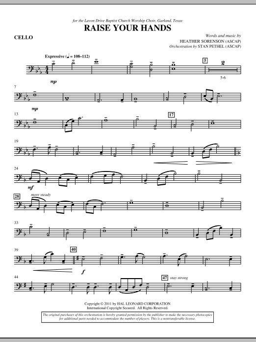 Raise Your Hands - Cello (Choir Instrumental Pak)