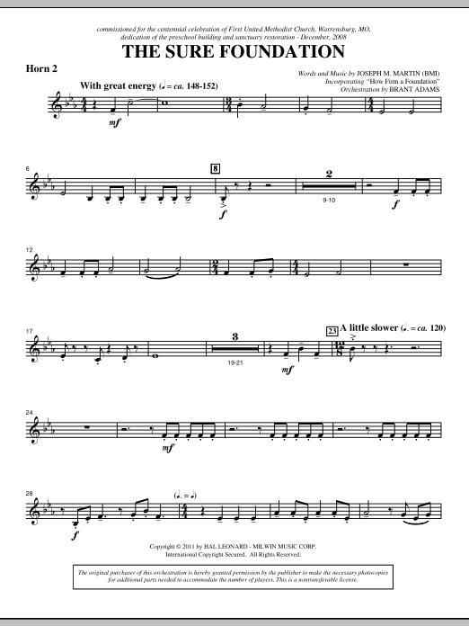 The Sure Foundation - F Horn 2 (Choir Instrumental Pak)