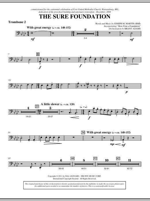 The Sure Foundation - Trombone 2 Sheet Music