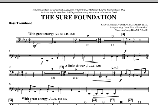 The Sure Foundation - Bass Trombone Sheet Music