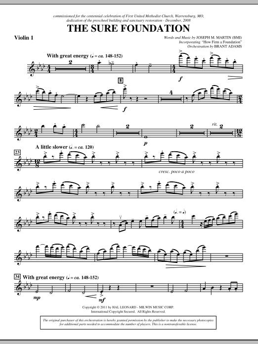 The Sure Foundation - Violin 1 (Choir Instrumental Pak)