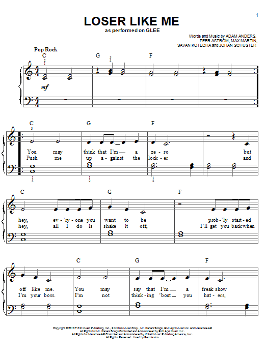 Loser Like Me Sheet Music