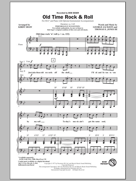 Old Time Rock & Roll (arr. Kirby Shaw) Sheet Music