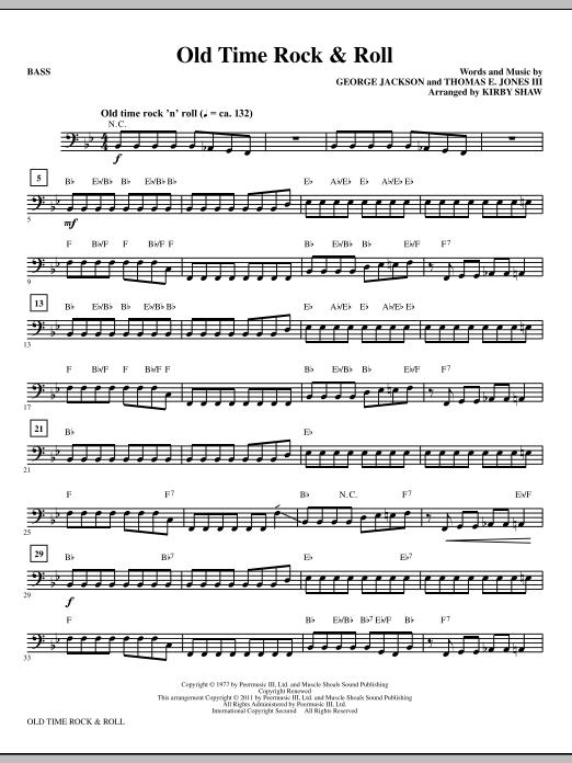 Old Time Rock & Roll - Bass (Choir Instrumental Pak)