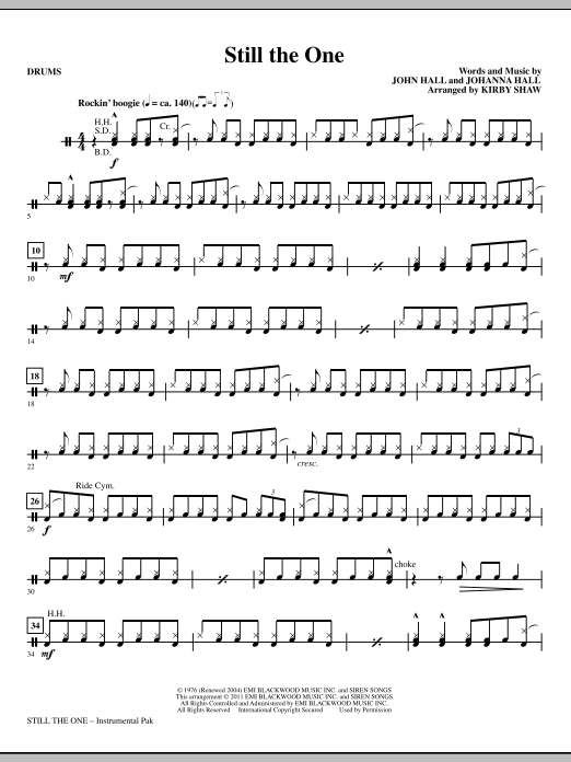Still The One - Drums (Choir Instrumental Pak)