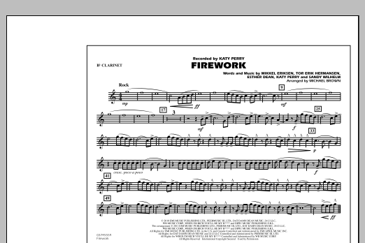 Firework - Bb Clarinet (Marching Band)