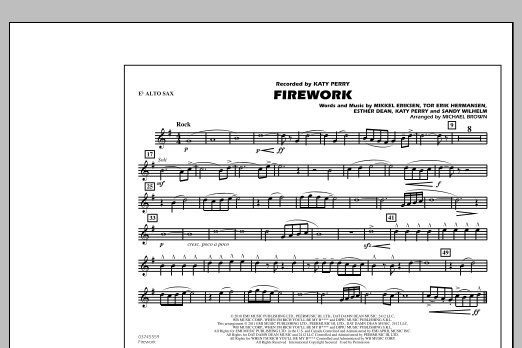 Firework - Eb Alto Sax (Marching Band)
